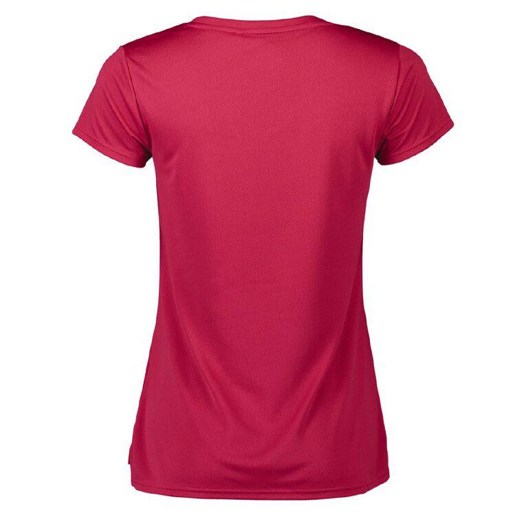 Active Intent Women's Cooldry Tee, Pink Dark, hi-res image number null
