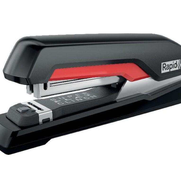 Rapid Stapler S17 Superflat 30 Sheet Fullstrip Black/Red, , hi-res