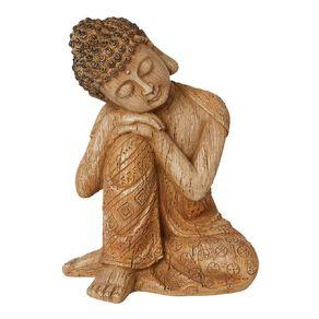 Living & Co Decorative Buddha Ornament 18 x 15 x 26cm Brown