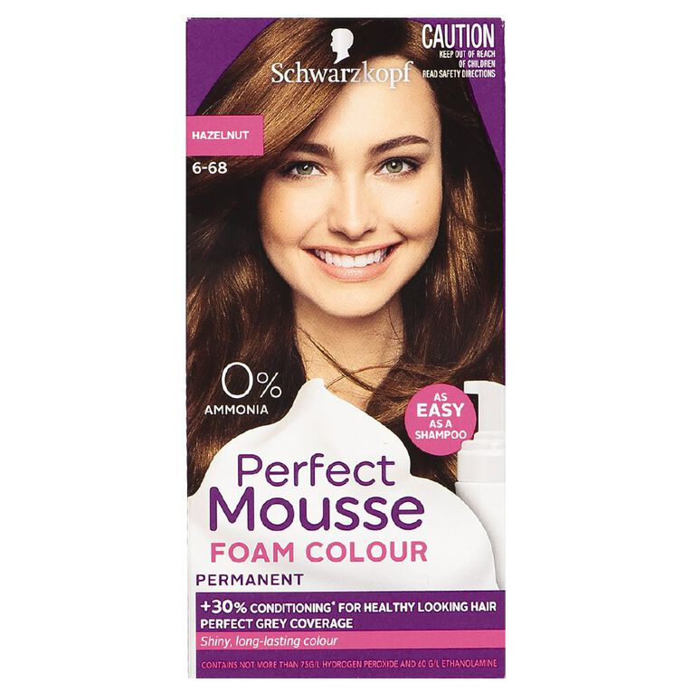Schwarzkopf Perfect Mousse Hair Colour 6-68 Hazelnut, , hi-res