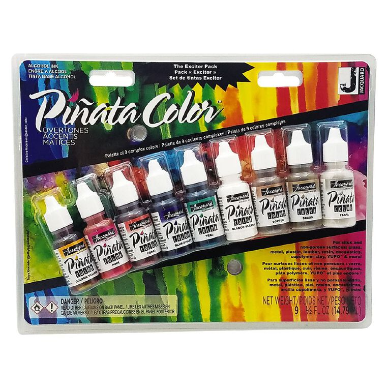 Jacquard Pinata Colour Alcohol Ink Exciter 9 Pack, , hi-res