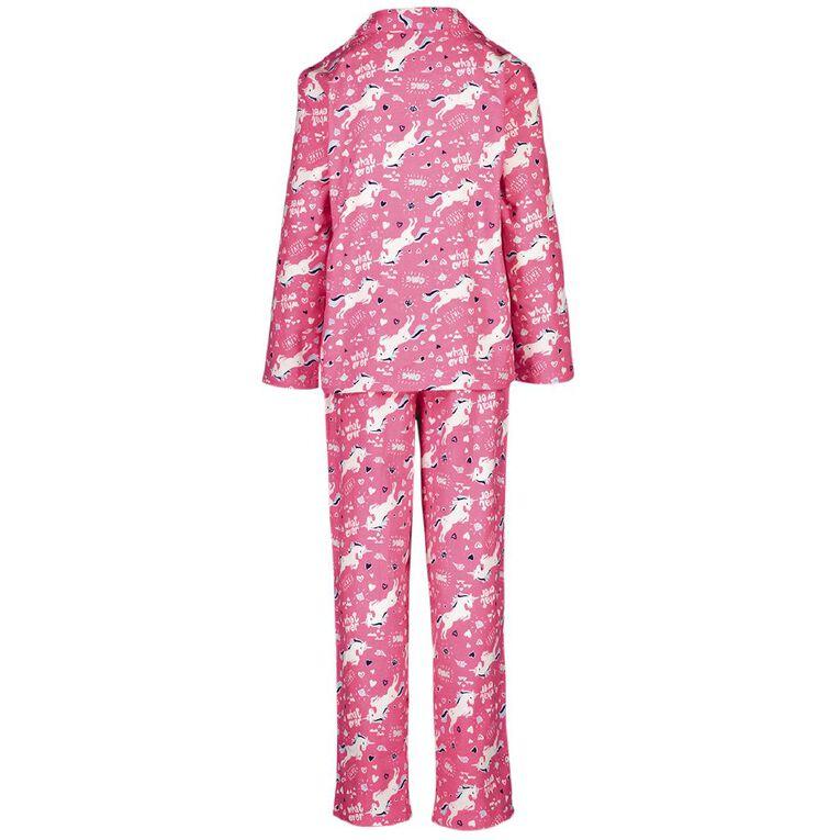 H&H Kids' Flannelette Pyjamas, Pink, hi-res image number null
