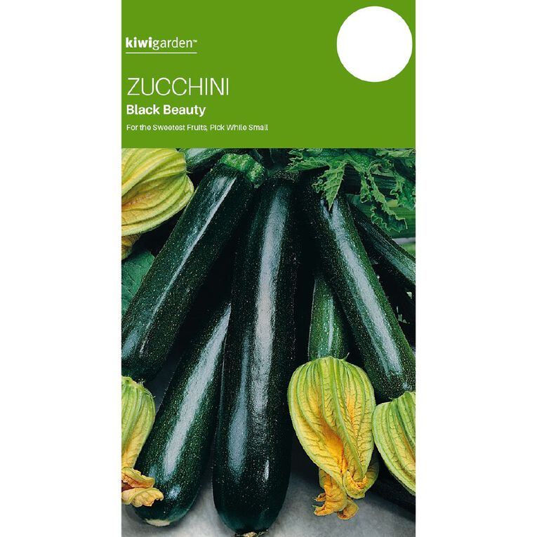 Kiwi Garden Zucchini Black Beauty, , hi-res