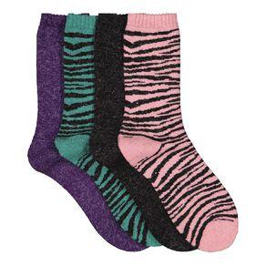 H&H Girls' Home Socks 4 Pack