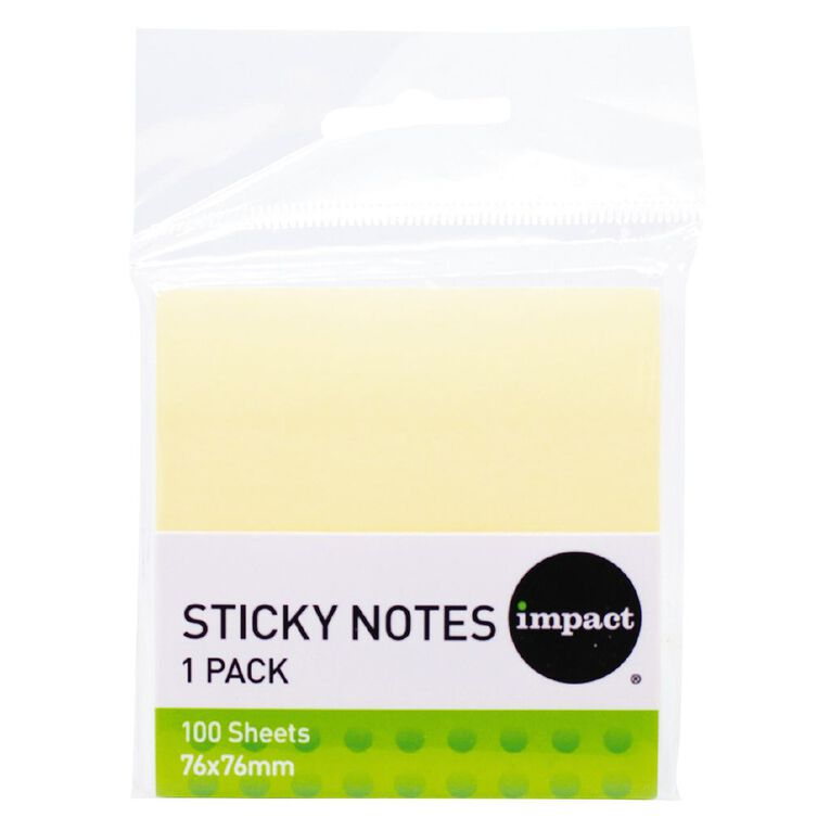 Impact Sticky Notes 76mm X 76mm 100 Sheets, , hi-res