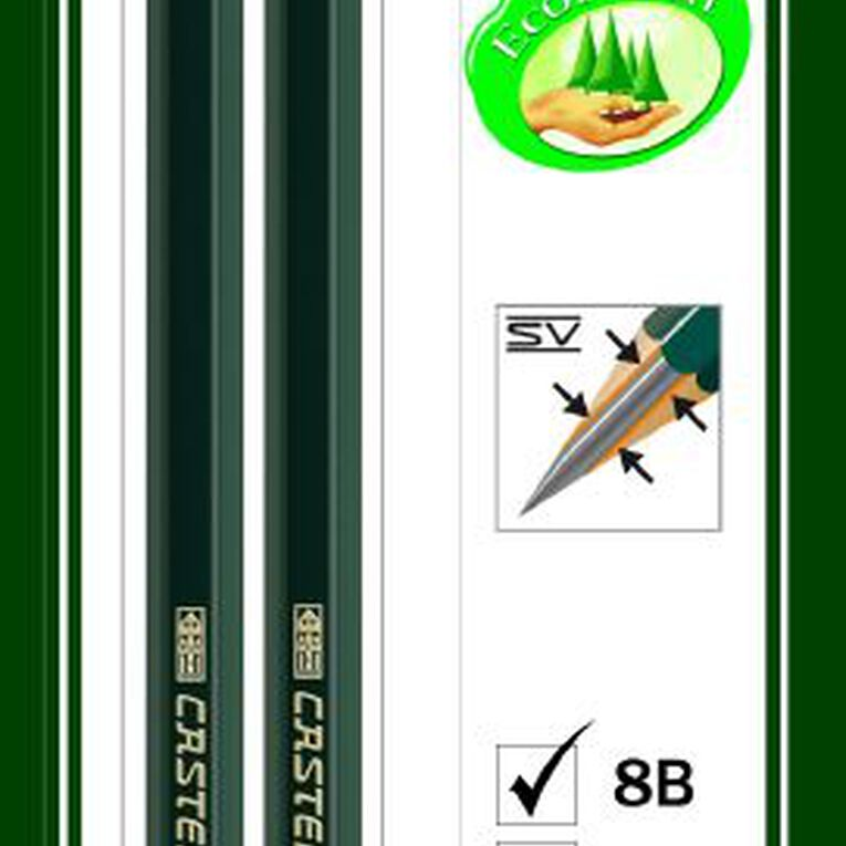 Faber-Castell Drawing Pencil 9000 8B HB 2 Pack, , hi-res