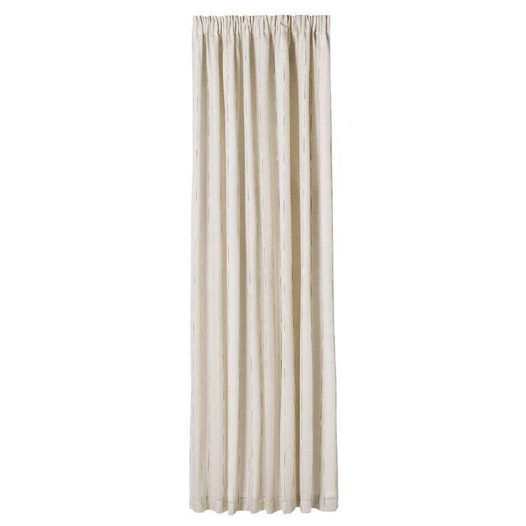 Living & Co East Hampton Curtains Natural 230-330cm Wide/205cm Drop, Natural, hi-res