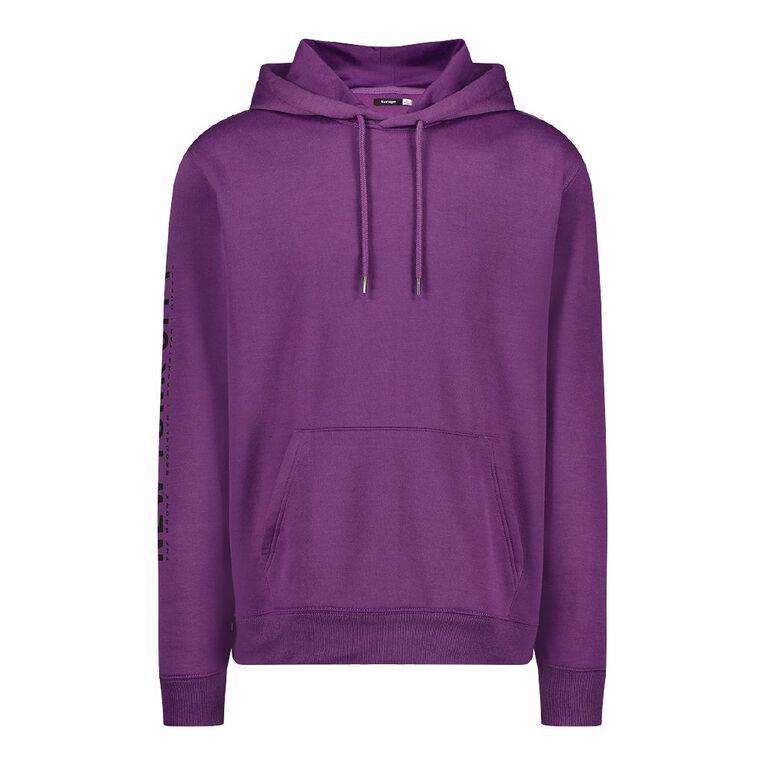 Garage Men's Hooded Fresh Sweatshirt, Purple, hi-res