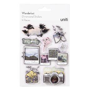 Uniti Wanderlust Dimensional Stickers
