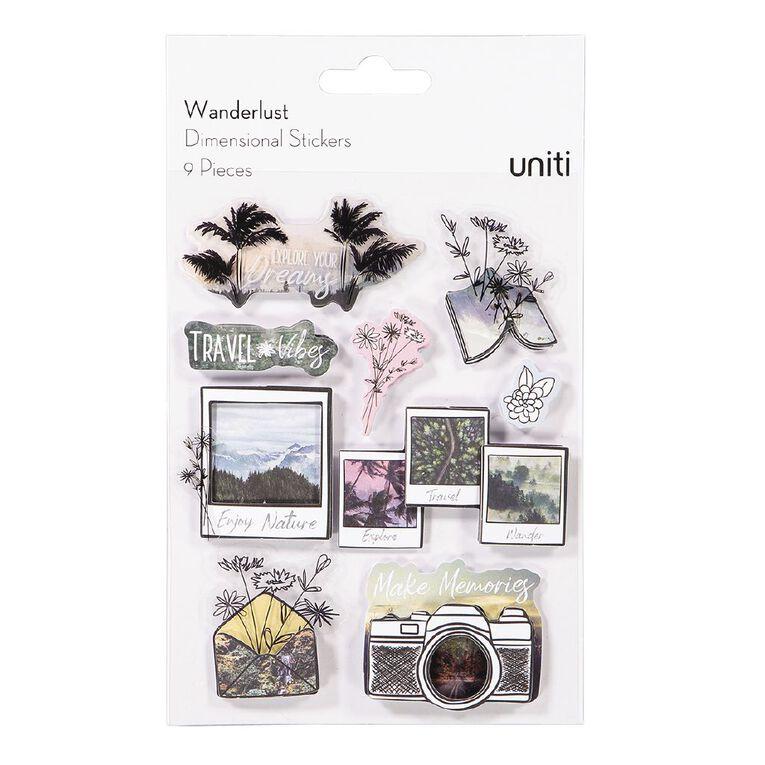 Uniti Wanderlust Dimensional Stickers, , hi-res