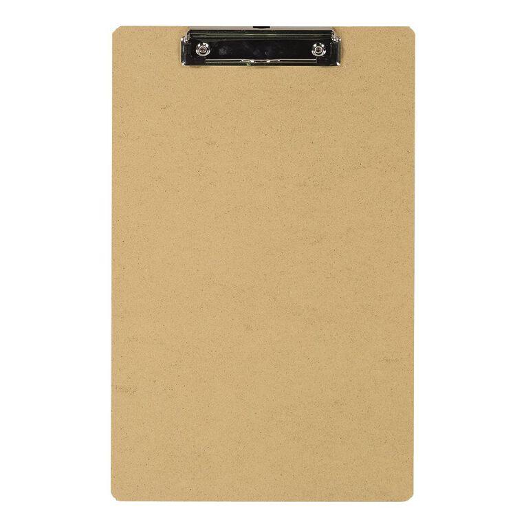 WS Hardboard Clipboard Brown Foolscap, , hi-res