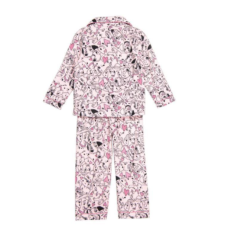 101 Dalmatians Disney Girls' Fleece Pyjamas, Pink, hi-res