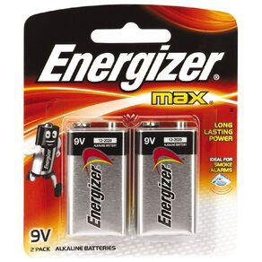 Energizer Max 9V 2 Pack