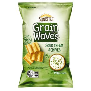 Sun Bites Grain Waves Sour Cream & Chives 110g 110g