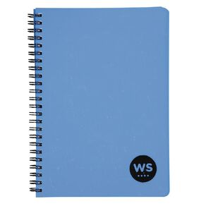 WS Notebook PP Wiro 200 Pages SOFT COVER Blue A5