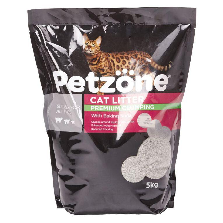 Petzone Cat Litter Premium Clumping With Baking Soda 5kg, , hi-res