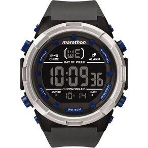 Timex Marathon Digital 50mm Watch Black/Grey