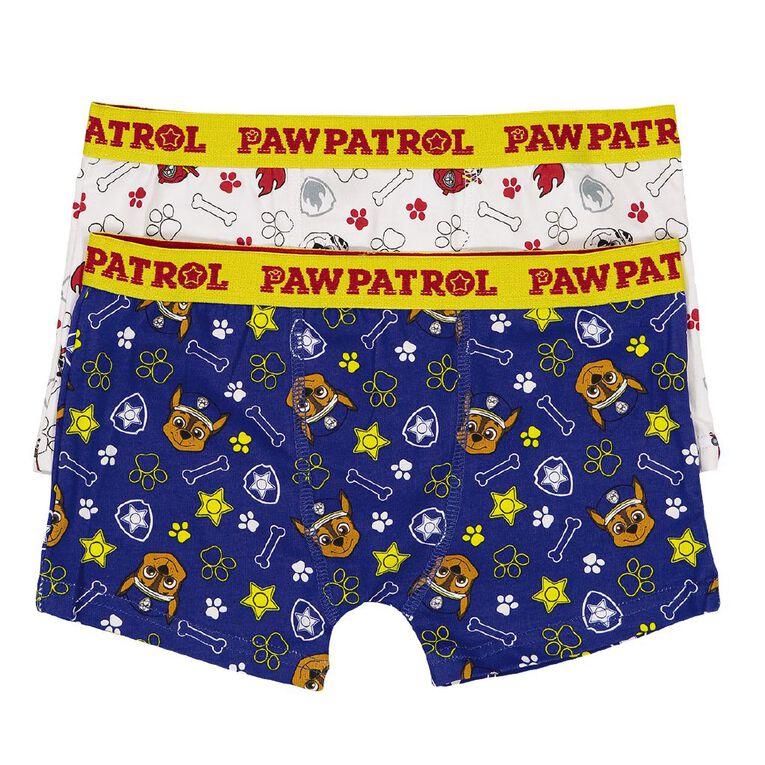 Paw Patrol Boys' Trunks 2 Pack, Blue/White, hi-res