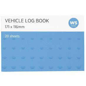 WS Vehicle Log Book Soft Cover 20 sheets Blue
