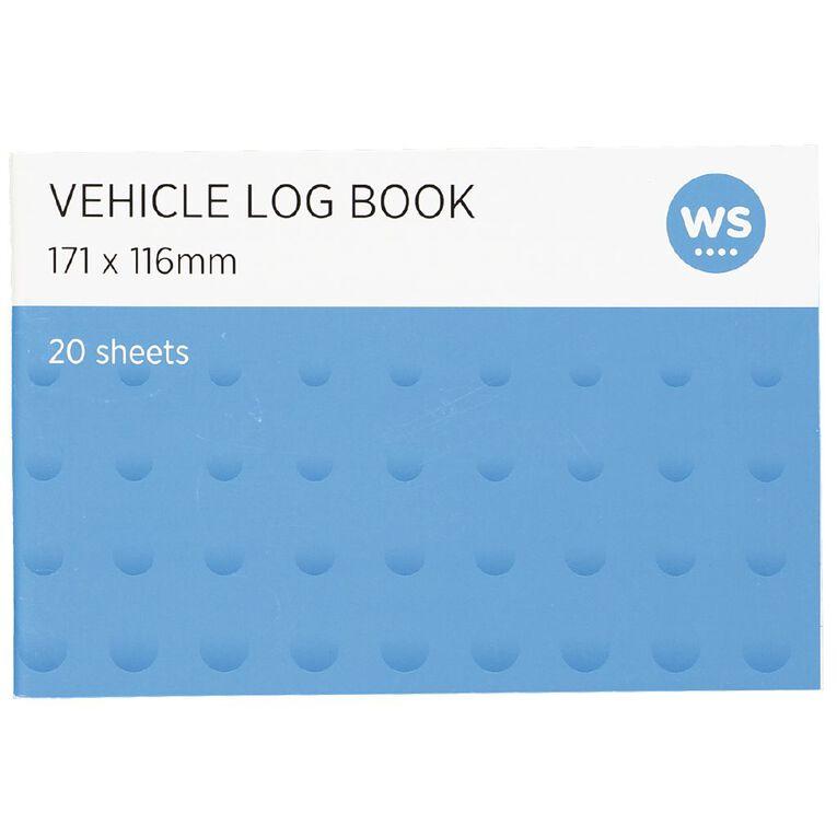 WS Vehicle Log Book Soft Cover 20 sheets Blue, , hi-res