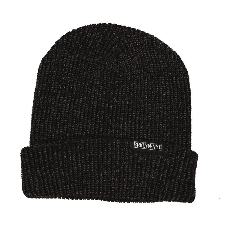 H&H Knit Roll Up Beanie, Charcoal/Marle, hi-res