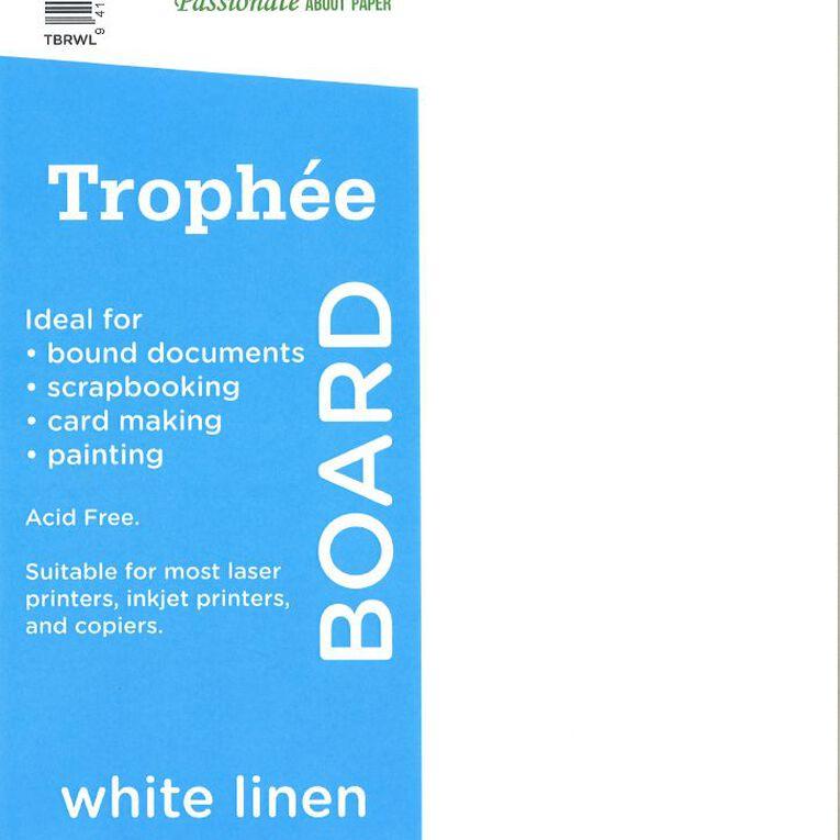 Trophee 240gsm 200 Pack Linen White A4, , hi-res