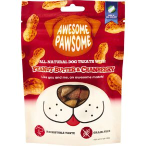 Awesome Pawsome Peanut Butter & Cranberry 85g