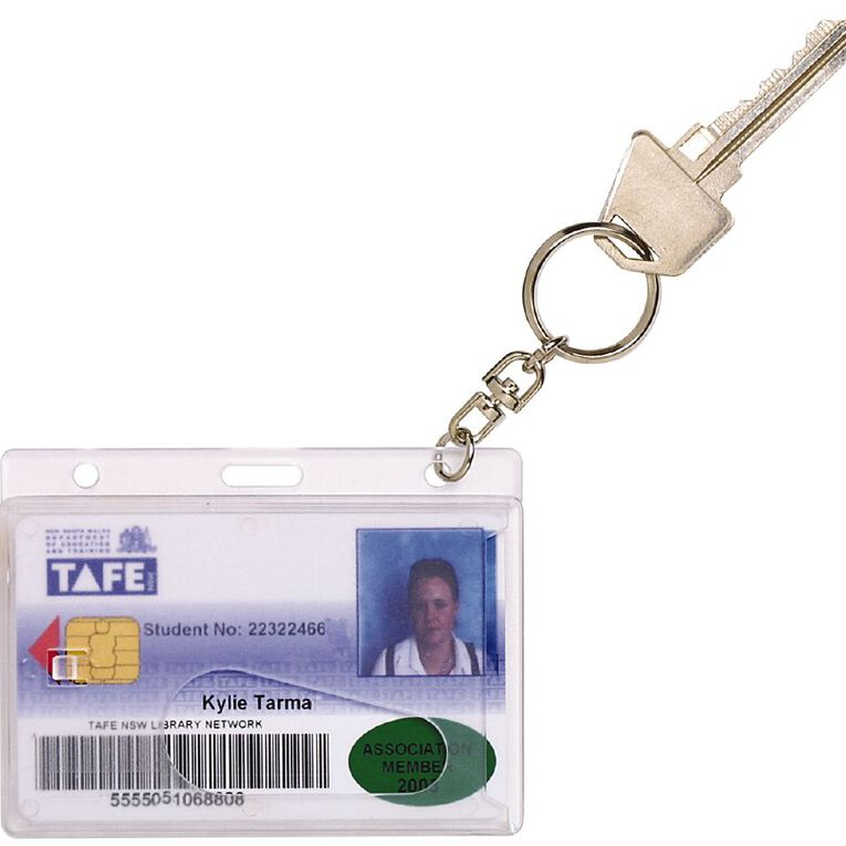 Rexel Driver Licence Holder With Key Ring Clear, , hi-res