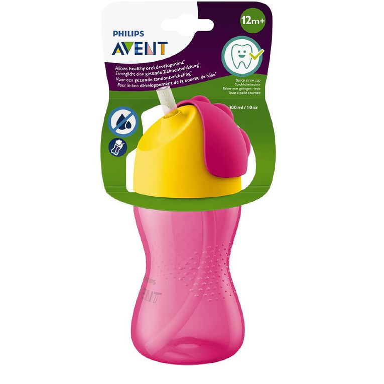 Avent Bendy Straw Cup 300ml 12m+ Assorted, , hi-res