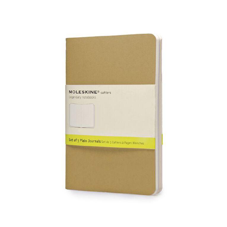 Moleskine Cahier Notebook Unruled Kraft 3 Pack, , hi-res