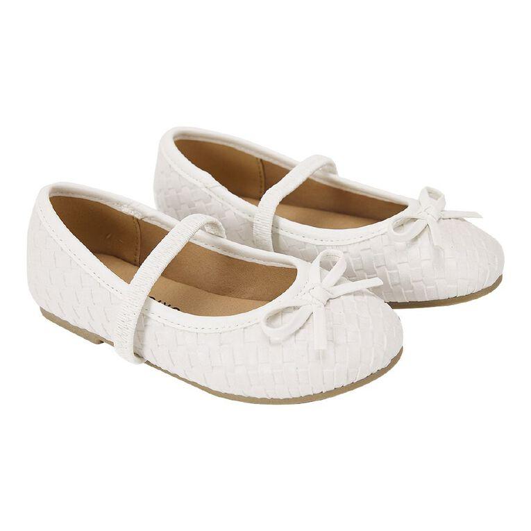 Young Original Kids' Petra Ballet Shoes, White, hi-res