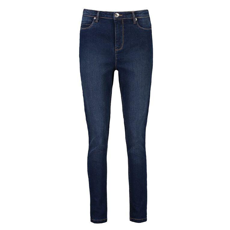 H&H Women's Shaper Denim Jeans, Denim Mid, hi-res
