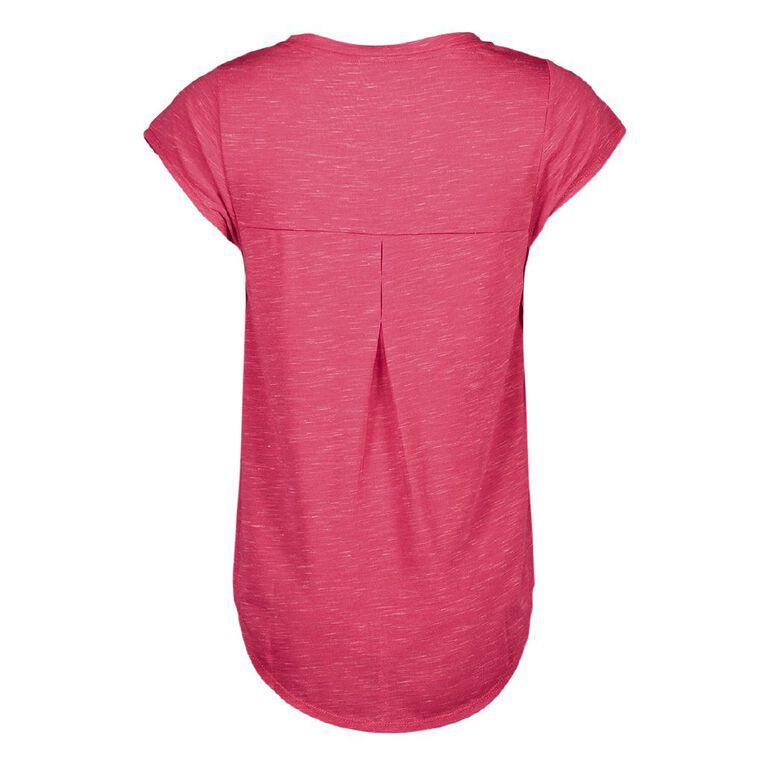 Active Intent Women's Exaggerated Scoop Hem Tee, Pink Dark, hi-res
