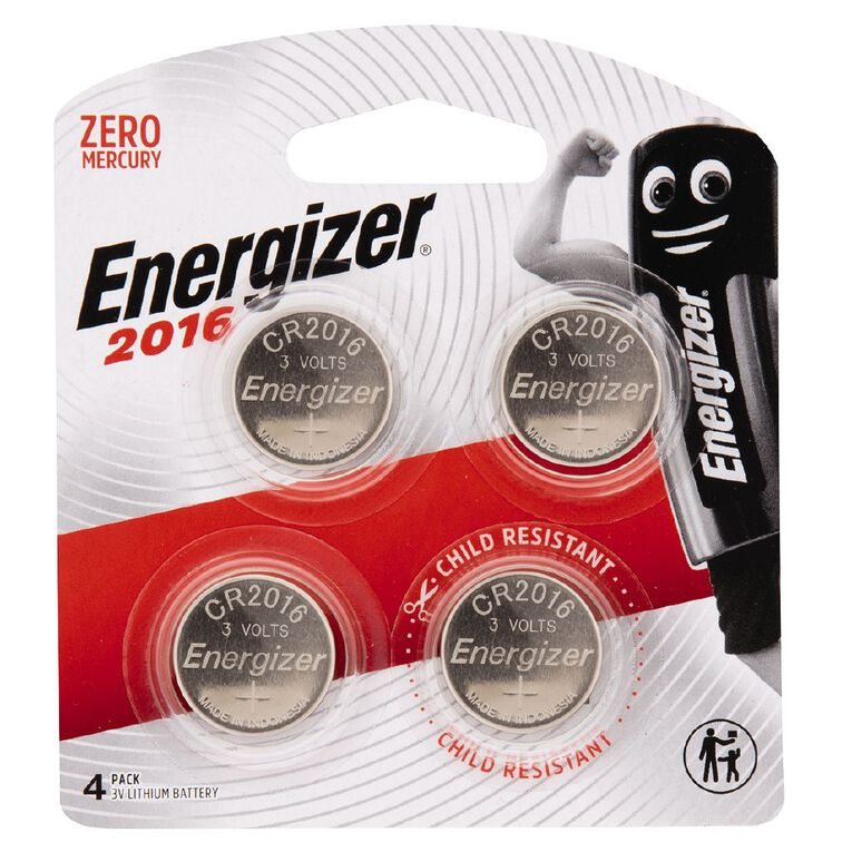 Energizer Lithium Batteries 2016 4 Pack, , hi-res
