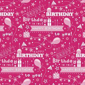 John Sands Roll Wrap Pink Happy Birthday