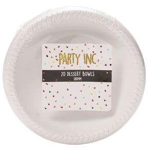 Party Inc Dessert Bowls White 180mm 20 Pack
