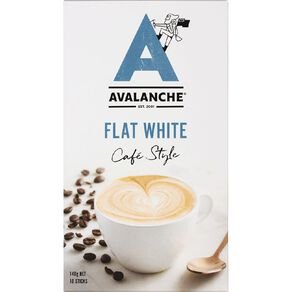 Avalanche Cafe Style Flat White 10 Pack