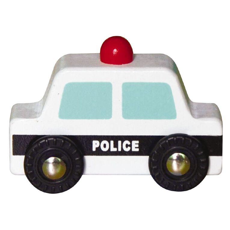 Play Studio Mini Wooden Vehicle Police, , hi-res