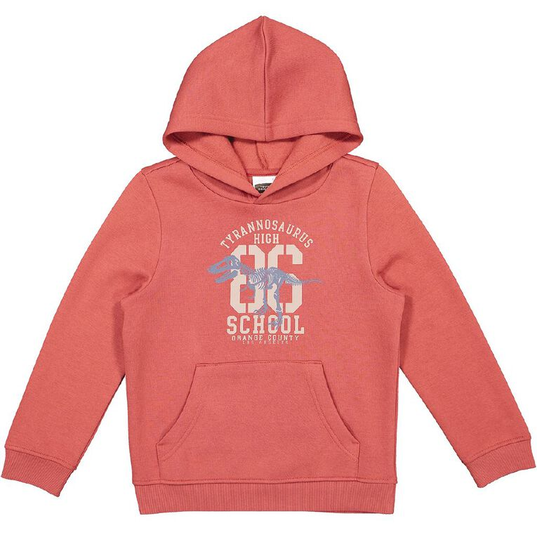 Young Original Boys' Pull Over Print Hoodie, Red Mid, hi-res