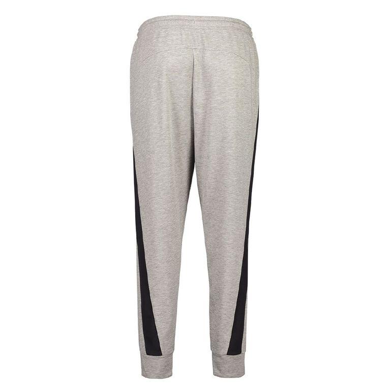 Active Intent Men's Eyelet Panel Track Pants, Grey Light, hi-res