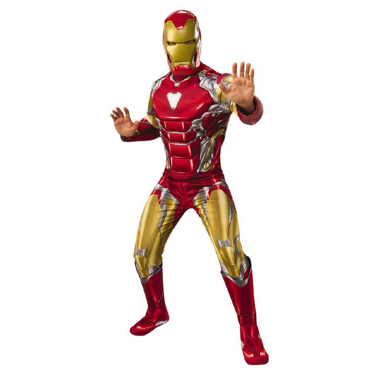 Iron Man Deluxe Avengers 4 Adult Costume - Size XL, , hi-res
