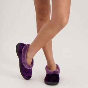 H&H Women's Trim Cuff Comfort Slippers