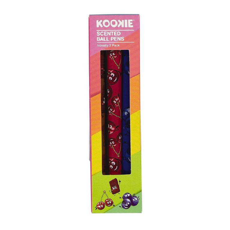 Kookie Novelty Pens Scented 3 Pack Multi-Coloured, , hi-res