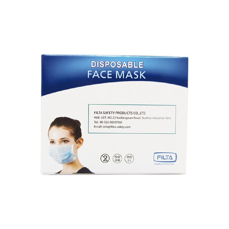 Disposable Face Mask 50 Pack, , hi-res image number null