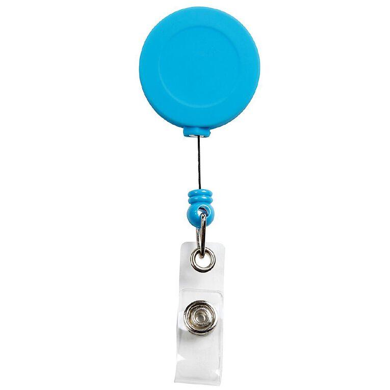Rexel Badge Reel Soft Touch Blue, , hi-res