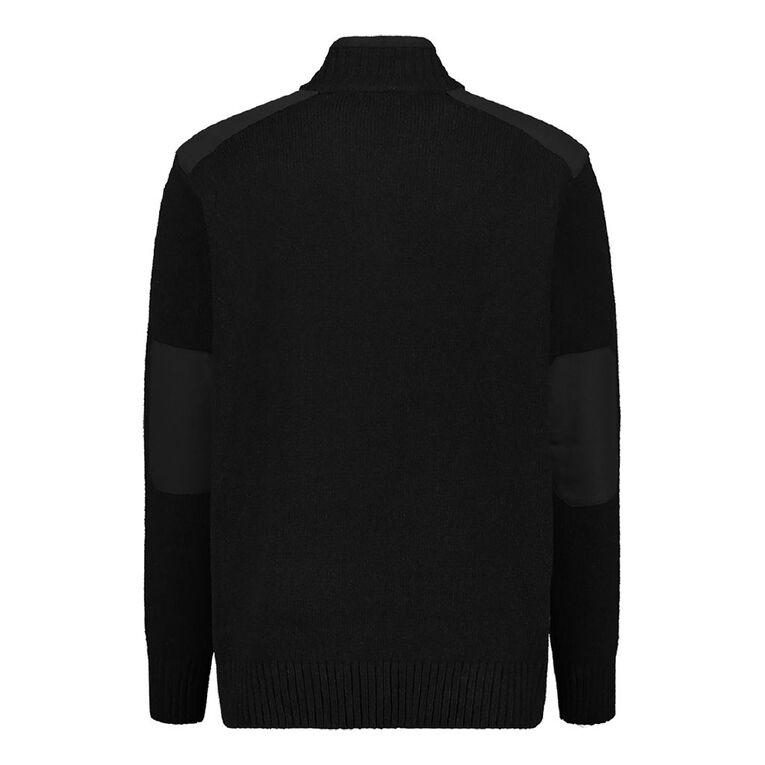 Back Country Men's 1/4 Zip Wool Jumper, Black, hi-res image number null