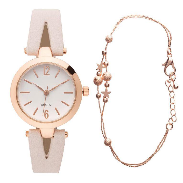 Eternity Style Kids' Analogue Watch Split Strap Bracelet Set, , hi-res