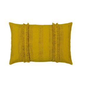 Living & Co Cotton Breakfast Cushion Yellow 40cm x 60cm