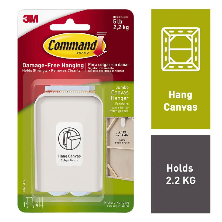 Command Canvas Hanger White Jumbo, , hi-res