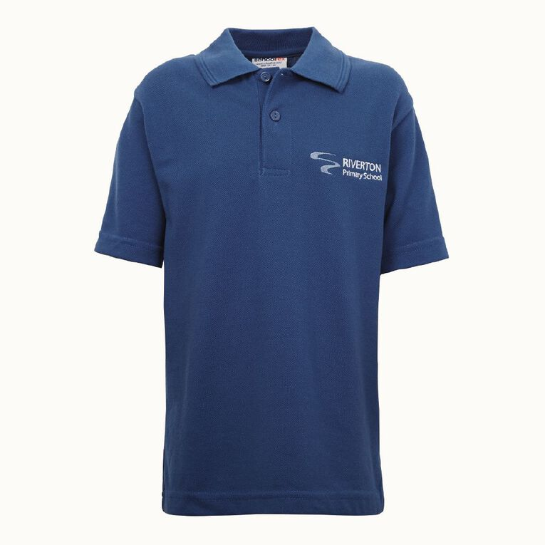 Schooltex Riverton Short Sleeve Polo with Embroidery, Royal, hi-res